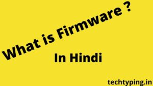 What is Firmware ?